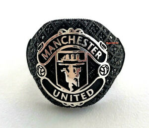 Britain England 925 Silver Manchester United Champion Football Sport Team Ring