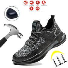 Hombres Zapatos Seguridad Trabajo Puntera De Acero Ligero Zapatillas Informal Botas Antideslizante