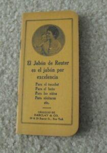 Vintage 1910s Pocket Notepad El Jabon de Reuter Barclay & Co
