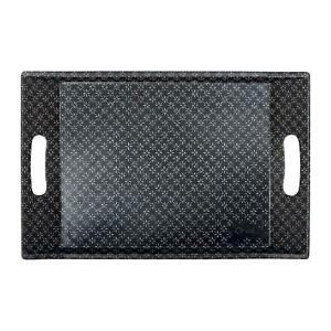 Orval Creations Small Serving Tray With Handles 35cm Black Variations Graphique