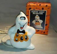 Vintage Ceramic Lighted Ghost Decoration with Original Box