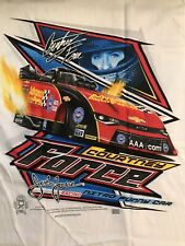 "NHRA DRAG RACING ""COURTNEY FORCE""  FUNNY CAR  T- SHIRT  SIZE LARGE"