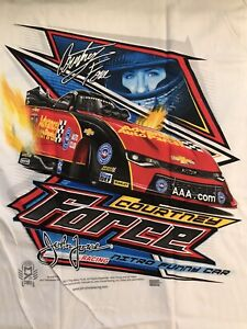"""NHRA DRAG RACING """"COURTNEY FORCE""""  FUNNY CAR  T- SHIRT  SIZE SMALL"""