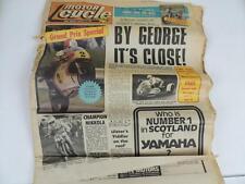 UK Motor Cycle Newspaper August 1977 Motocross Road Race Side Car Yamaha L1154
