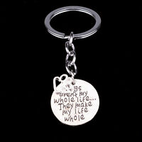New Charm Love Dog Paws Key Chain Ring Jewelry Keychain Silver Keyring Gifts Pet
