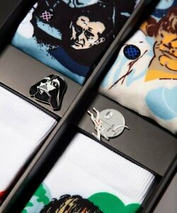 NEW Stance Star Wars Galactic 4-Pack Sock Set with Collector's Pins *LIMITED* FS