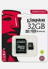 Kingston Micro SD SDHC Memory Card TF Class 10 32GB & SD Card Adapter