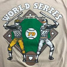 VTG 70s 80s 1979 WORLD SERIES PITTSBURGH PIRATES BALTIMORE ORIOLES XS T-SHIRT