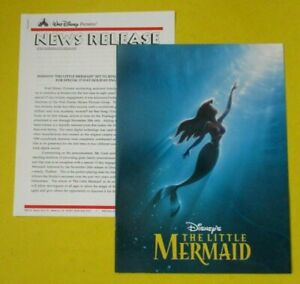 Walt Disney Pictures The Little Mermaid Press Kit Re-release in theaters 1997