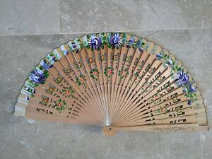 Spain Flamenco Handfächer Pocket Fan Folding Fan Wooden E Natural