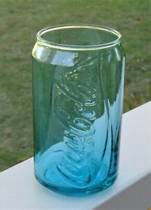 Coca Cola Glass *2017 McDonalds Limited Edition *Coke Can Shape *Teal