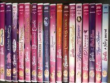 Barbie DVD movie lot princess mermaid Rapunzel Mariposa Fashion Fairytale plus