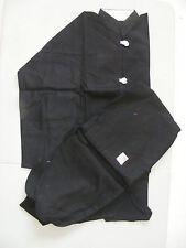 Tasuki Kung Fu Uniform Black Gi, Size 2, 100% Cotton