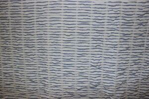 """Threshold white and blue striped cloth shower curtain 72"""" x 70"""""""