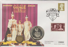 GB PNC COVER 1997 KING GEORGE VI KGVI DIAMOND JUBILEE DUAL COINS 3d & 5 CROWN