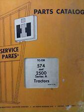 International Harvester Ih 574 2500 Sera Industrial Tractor Parts Catalog Manual