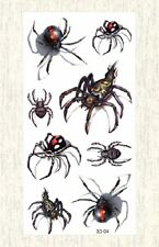 US SELLER, 3D spider Halloween temporary tattoo fake tatoos