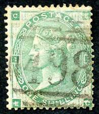 SG90 1/- Green Wmk Emblems Plate 1 Fine Used Cat 300 pounds