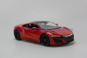 Maisto 1/24 Honda 2018 Acura NSX Diecast MODEL Racing Car NEW IN BOX Red