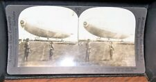 ANTIQUE WWI KEYSTONE STEREOVIEW DIRIGIBLE R-34 AT MINEOLA