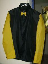 Horse Racing Jockey Silks Black And Yellow Rip Stop Nylon New!