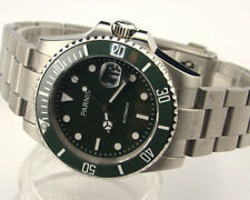 Parnis 40mm green dial Ceramic Bezel Sapphire crystal glass automatic mens watch