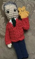 Mr Rogers Inspired Stuffed Crochet Doll , Handmade