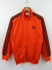 P76 Vtg Adidas 90s Men Track Jacket Orange Footbal Firebird Tref D3 F162 GB36 XS