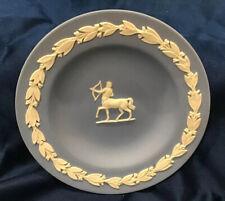Vtg Wedgwood Jasperware Blue/White Pin Dish Or Butter Pat Centaur Neoclassical