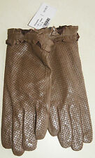 Paire de gants taupe en cuir neuf taille M étiqueté à 59€