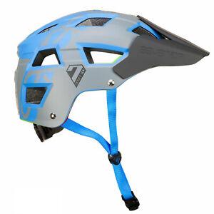 7 Protection 7iDP M5 Dirt Jump Bike Helmet MTB BMX Skate Cycling  - Blue / Grey