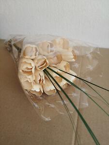 Tulip Bouquet Wooden Flowers Holztulpen Artificial Flowers Birthday Cream