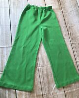 Womens 1970 Vintage Pants Capri Small Solid Green 70s Straight Legged Unbranded