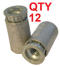 Qty 12 Screw Anchors For Concrete, 1/4-20 Thread for sidewalk shutter bolts