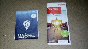 City maps of Amsterdam, Berlin and Stockholm (2019)