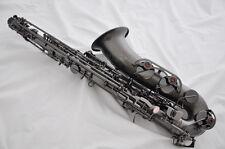 Professional satin black nickel C Melody sax saxophone with new case + 2 necks