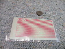 "Clover House Dry Trfs decals HO 9800-66 Stripes red 0.044"" wide   M107"