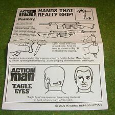 VINTAGE ACTION MAN 40th MANUAL LEAFLET EAGLE EYE SHARPSHOOTER L.830