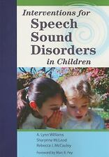 Interventions for Speech Sound Disorders in Children by Rebecca J. McCauley (Eng