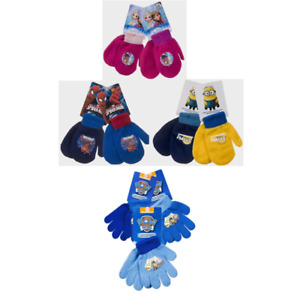 Boys/Girls Kids mittens/gloves Disney Paw Patrol Spiderman, Frozen,Despicable Me