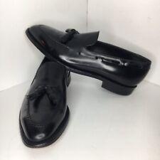 Johnston & Murphy Crown Aristocraft Black Mens Loafers Tassel 24-4901 Size 10.5