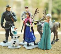 6 Frozen Cake Toppers Figures Disney Elsa Anna Sven Kristoff  Olaf Hans 6pcs UK