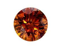 EGL Certified Natural Round Cut Loose Diamond 1.46 CT Rare Fancy Yellow Orange