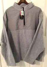 NWT GRAND SLAM Mens L/Sl Lt. Gray Fleece 1/2 Zip Pullover-Sz 2XB-MSRP $65