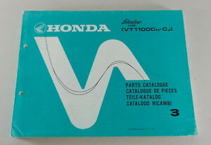 Catálogo de Piezas/Regiones Catálogo Honda VT 1100C Sombra De 1987