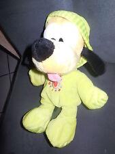 doudou peluche Pluto combinaison pyjama capuche vert fluo DISNEY NICOTOY 27cm