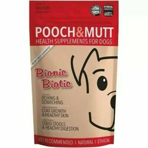 Pooch & Mutt BIONIC BIOTIC Dog Probiotic Skin Coat Digestion Health FAST DELIVER