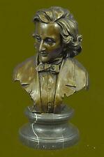 Original Milo Ludwig van Beethoven Bust Bronze Sculpture Statue Figure Figurine