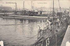 Carte postale ancienne DUNKERQUE marine nationale marins timbrée 1913