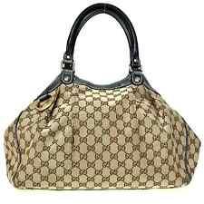 Gucci Sukey handbag GG canvas × calf leather 211944 Used